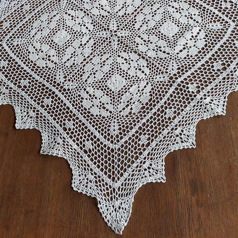 Serweta szydełkowa 85x85 w kolorze białym
